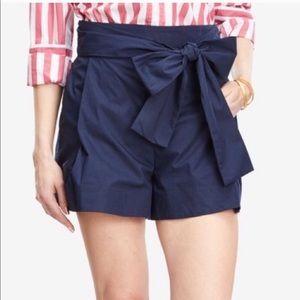 J. Crew Cotton Poplin Tie Waist Shorts NWT